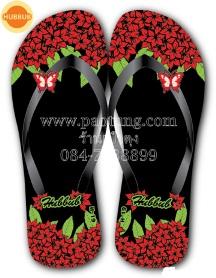 รองเท้าแตะฟองน้ำลายดอกไม้ ยี่ห้อ HUBBUB