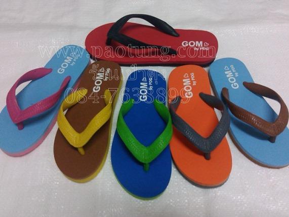 รองเท้าแตะฟองน้ำสายสลับสีของเด็ก ยี่ห้อ GOM (LH501) ขายถูก