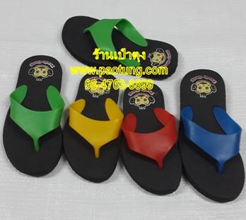 รองเท้าแตะฟองน้ำพื้นดูหูแผ่นสามเหลี่ยม ยี่ห้อ Pado gang ขายส่ง
