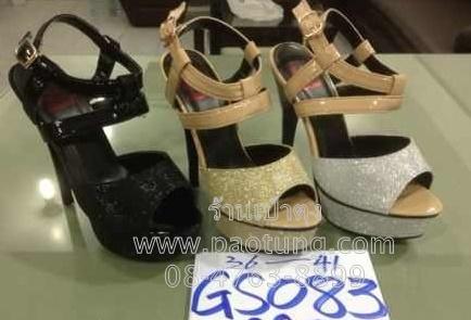 รองเท้าแฟชั่นส้นสูงแบบโฉบเฉี่ยวขายส่ง/คู่ละ 320 บาท