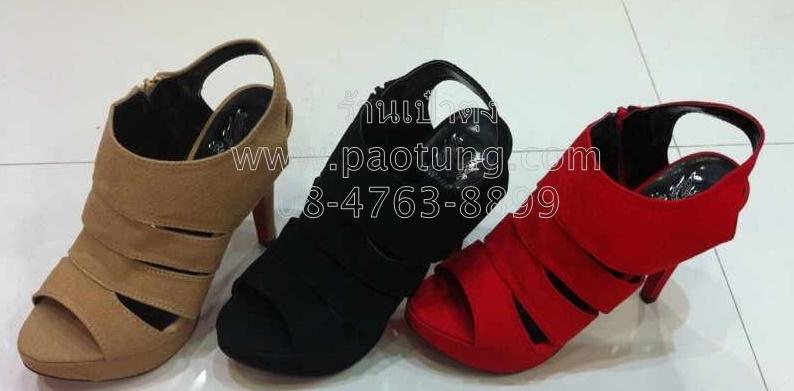 รองเท้าแฟชั่นส้นสูงขายส่ง/คู๋ละ 350 บาท(Gw3006)