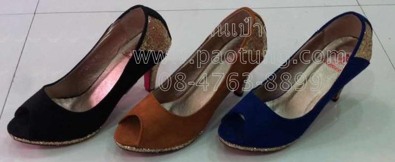 รองเท้าแฟชั่นส้นสูงขายส่ง/คู๋ละ 230 บาท(Gw1008)