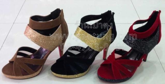 รองเท้าแฟชั่นส้นสูงขายส่ง/คู๋ละ 350 บาท(Gw3008)