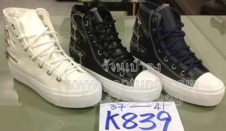 รองเท้าผ้าใบหุ้มข้อวัยรุ่นขายส่งยกโหล / คู่ละ 250 บาท