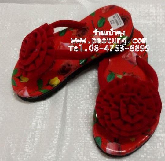 รองเท้าแตะแฟชั่นเด็ก ประดับดอกไม้สวยขายส่ง