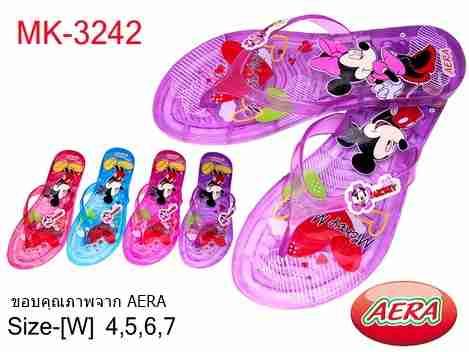รองเท้าแตะแฟชั่นหูคีบ AERA ลายมิคกี้เม้าส์(ผู้ใหญ่)ขายถูก