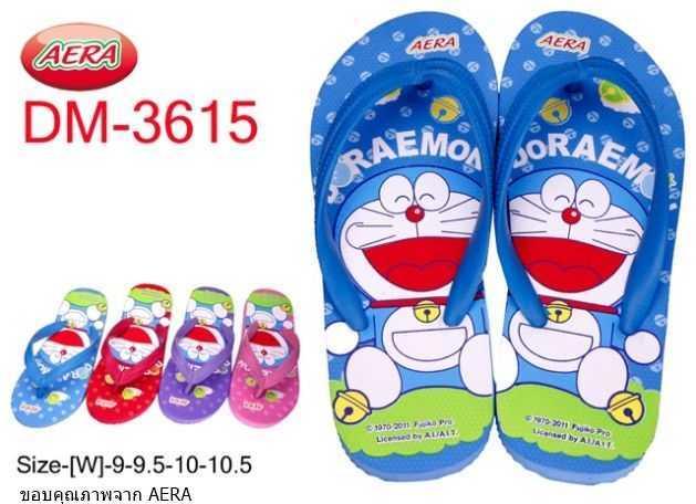 รองเท้าแตะฟองน้ำหูคีบ AERA ลายการ์ตูนโดเรม่อนDM1705(ผู้ใหญ่)ขายถูก