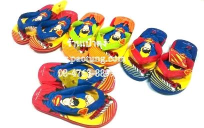 รองเท้าแตะฟองน้ำเด็กชายซุปเปอร์แมนหูคีบขายส่ง