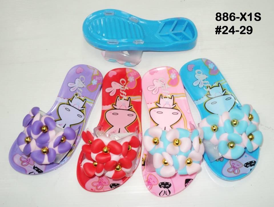 รองเท้าแตะแบบสวมโปเกม่อนประดับดอกไม้ ขายส่ง