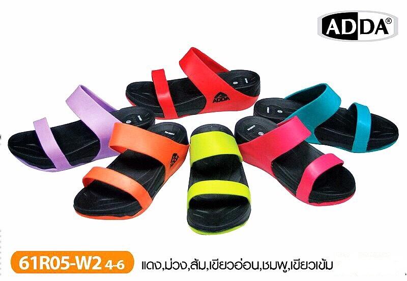 รองเท้าแตะ ADDA แบบสวมสองเส้นของผู้หญิงขายส่ง