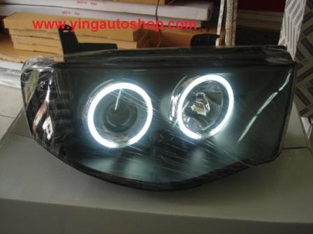โคมไฟหน้า Triton+LED โคมดำ