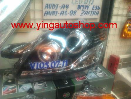 โคมไฟหน้า Projector Vios 07-11 Audy Style