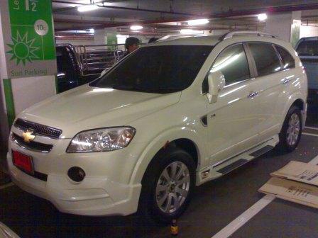 บันไดข้าง Chevrolet Captiva รุ่น Limited มีโก้(สีตามตัวรถ)