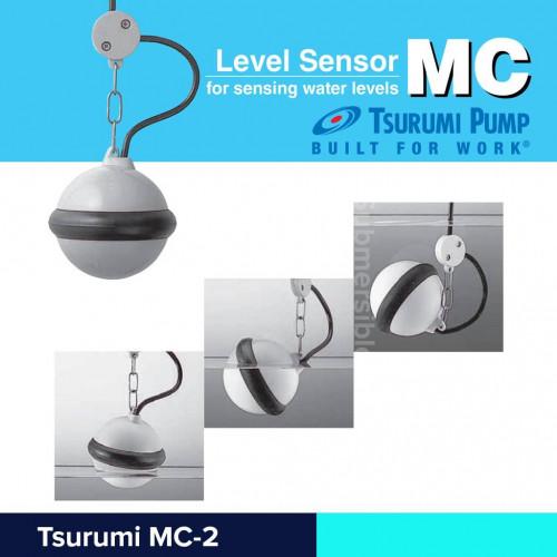 Tsurumi ลูกลอยสวิทช์บ่อบำบัดน้ำเสีย รุ่น MC2 สายไฟยาว 6 เมตร