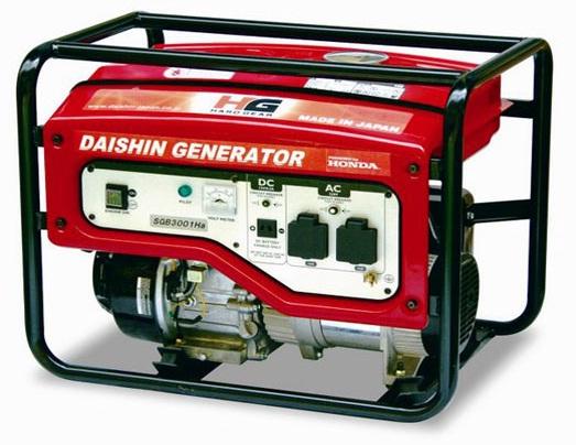เครื่องปั่นไฟ DAISHIN พร้อมเครื่องยนต์ HONDA SEB-6000HA