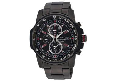 นาฬิกา SEIKO จับเวลาปลุกได้ดีไซน์สปอร์ต New Arrival เรือนรมดำล้วน