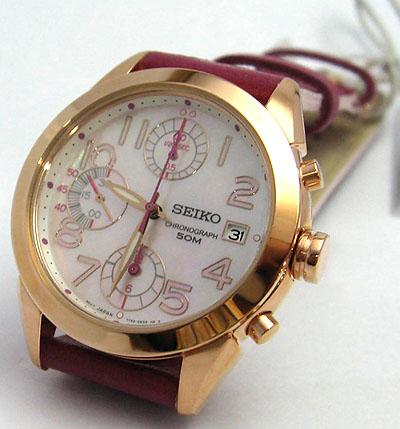 seiko criteria ประดับเพชร 8 เม็ดแทนตัวเลข จับเวลา