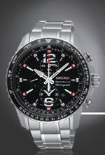 SEIKO Sportura Gents Alarm Chronograph Men\'s Watch รุ่น SNAE95P1