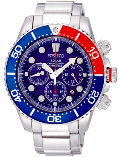 SEIKO Solar Chronograph Diver\'s 200m Men\'s Watch รุ่น SSC019P1