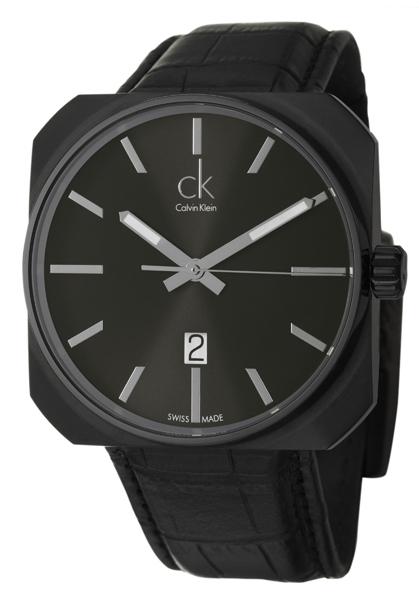 Calvin Klein Quartz Watch K1R21430นาฬิกา ck เรือนสแตนเสลรมดำ