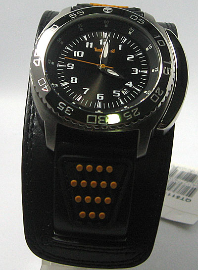 นาฬิกาTIMBERLAND Men\'s Abington Black Watch ตัวเรืิอนสแตนเลส สายหนังแท้อย่างดี