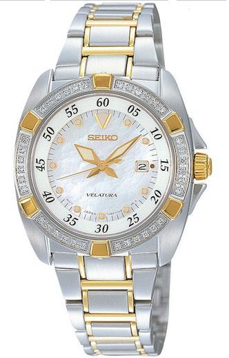 SEIKO Velatura Lady with 36 diamonds (Silver  Gold)  SXDA20