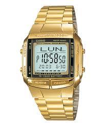CASIO Digital Gold tone รุ่น DB-360G-9ADF