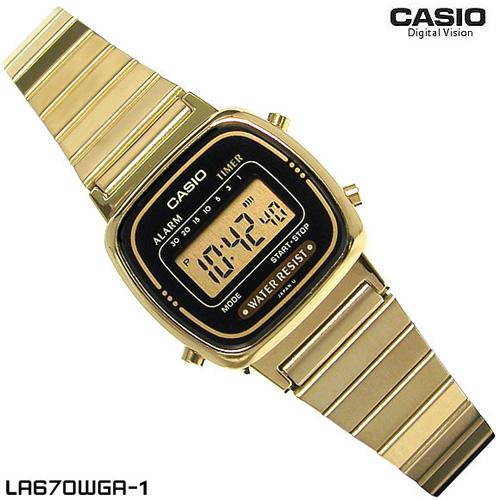 CASIO Digital Gold tone รุ่น  LA670WGA-1DF