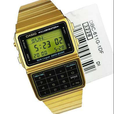 CASIO  Databank Gold Tone รุ่น DBC-611G-1ADF
