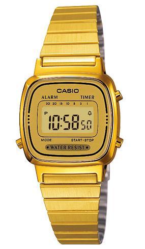 CASIO Digital Gold tone รุ่น LA670WGA-9DF