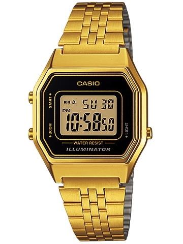 CASIO Digital Gold tone รุ่น LA680WGA-1DF