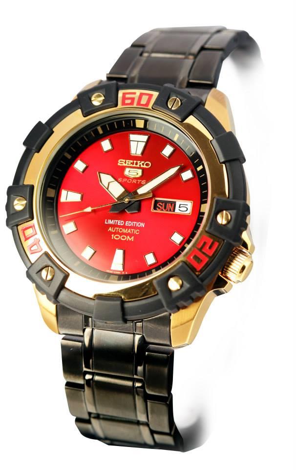นาฬิกา SEIKO RED SAMURAI LIMITED Automatic Men\'s Watch รุ่น SRP526