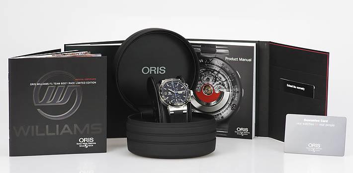 Oris williams F1 team Limited Edition 773 7685 4184 SET RS