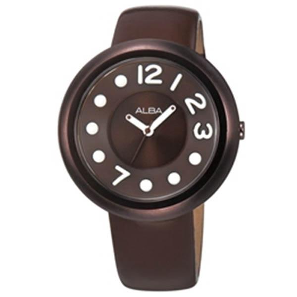 Alba นาฬิกาข้อมือผู้หญิง สายหนัง Mega Dot Modern Ladies รุ่น AH8097X