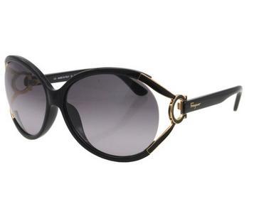 Salvatore Ferragamo SF600S 001 Round Sunglasses
