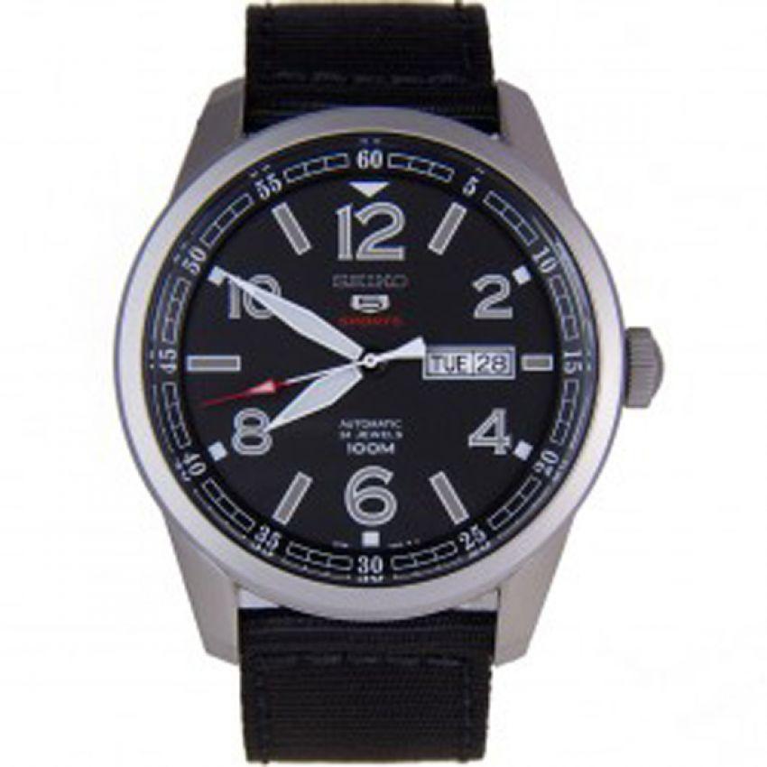 Seiko 5 Sports Automatic นาฬิกาผู้ชาย สายผ้า รุ่น SRP625 - blue
