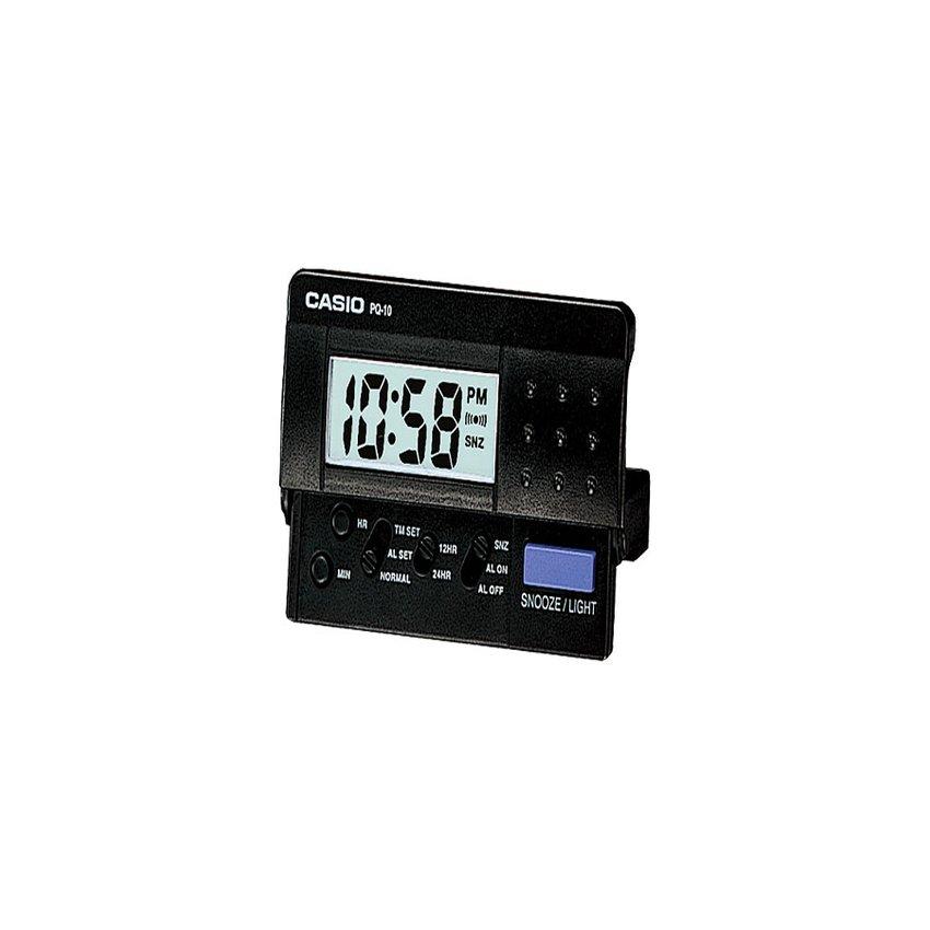 Casio Table Clocks นาฬิกาปลุกดิจิตอล นาฬิกาจับเวลาถอยหลัง รุ่น PQ-10-1R - สีดำ