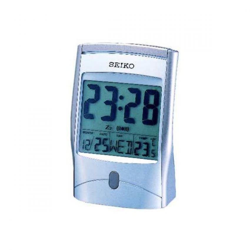 Seiko Grey LED Calendar Clock รุ่น QHL017S - Grey