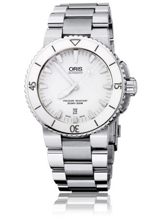 ORIS Oris Aquis Date 73376534156mb ขอบเซรามิคสีขาวรุ่นใหม่
