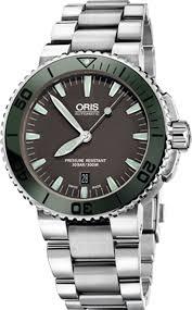 ORIS Oris Aquis Date 73376534157MB  ขอบเซรามิคสีเขียวรุ่นใหม่