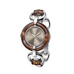 GUCCI Bamboo Brown Dial Stainless Steel Ladies Watch Item No. YA132402
