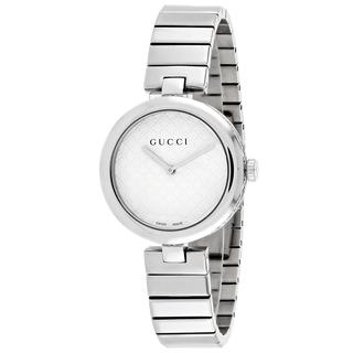 GUCCI Diamantissima White Dial Stainless Steel Medium Ladies Watch Item No. YA141402