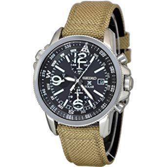 SEIKO Prospex Solar Chronograph นาฬิกาข้อมือผู้ชาย  สายผ้าร่ม รุ่น SSC293P1