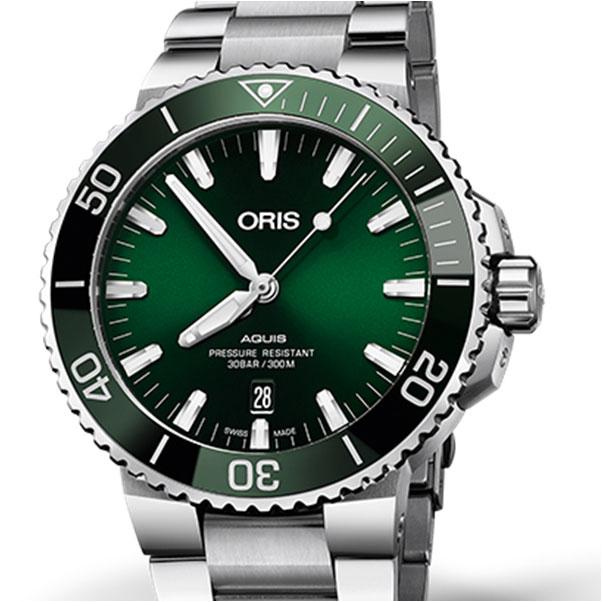 Oris Aquis Date 01 733 7730 4157 รุ่นใหม่ล่าสุด หน้าสีใหม่ 1