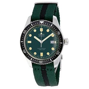 นาฬิกา ผู้ชาย Oris Divers Green Dial Automatic Men\'s Watch 01 733 7720 4057-07 5 21 25FC