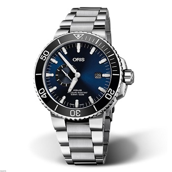 นาฬิกาผู้ชาย Oris Aquis Automatic Blue Dial Men\'s Watch01 743 7733 4135-07 8 24 05PEB